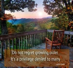 growing older