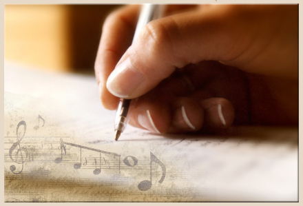handwriting music