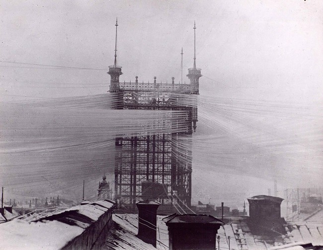 old picture of phone lines