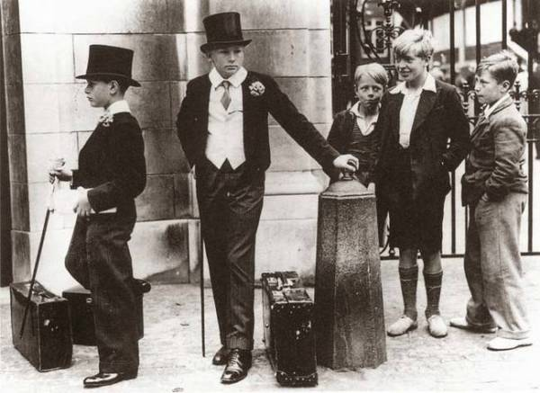 posh kids, old photos, class war
