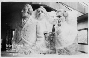 mock up Mt Rushmore