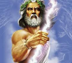 God with lightening