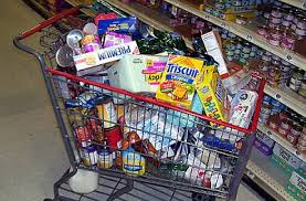 cart of processed food